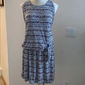 Lane Bryant navy and white skirt set